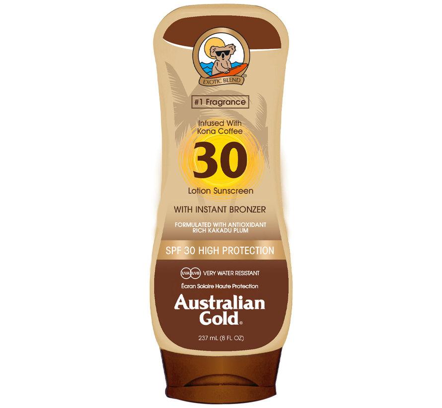 SPF 30 Tělové mléko s bronzerem- sluneční ochrana