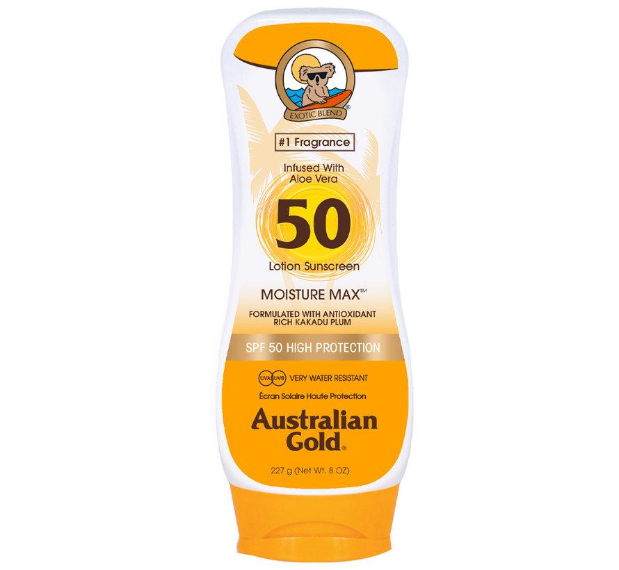 SPF 50 Tělové mléko bez bronzeru- sluneční ochrana