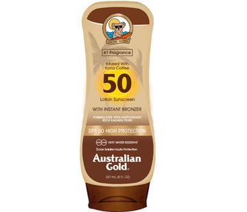 Australian Gold SPF 50 Tělové mléko s bronzerem
