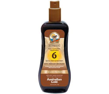 Australian Gold SPF 6 Gel ve spreji s bronzerem