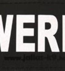 Julius k9 Julius k9 labels voor power-harnas/tuig powerdog