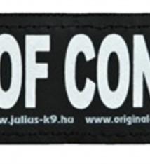 Julius k9 Julius k9 labels voor power-harnas / tuig out of control