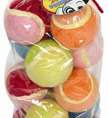 Petbrands Petbrands tennisbal assorti 12 pack
