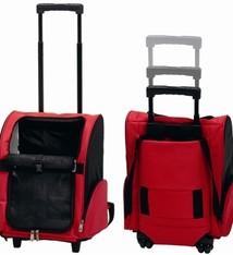 Merkloos Draagbare trolley rood/zwart