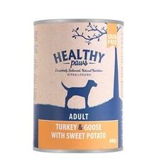 Healthy paws 6x healthy paws blik britse kalkoen / gans / zoete aardappel