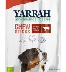 Yarrah 25x yarrah biologische kauwstaafjes hond rund met zeewier en spirulina
