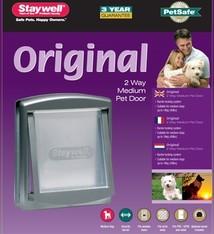 Petsafe Petsafe hondenluik medium zilver/tranparant