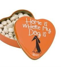 Sanal Sanal hartenblik home is where my dog is snoepjes