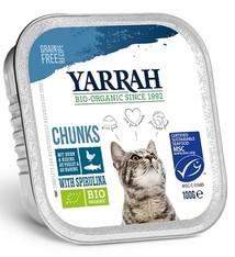 Yarrah 16x yarrah cat kuipje brokjes kip/haring
