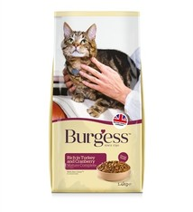 Burgess Burgess cat senior rijk aan kalkoen en cranberry