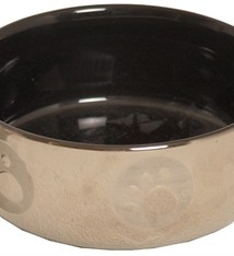 Merkloos Katteneetbak royal zilver/zwart
