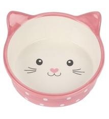 Happy pet Happy pet voerbak kat polka roze / creme