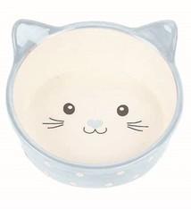 Happy pet Happy pet voerbak kat polka blauw / creme
