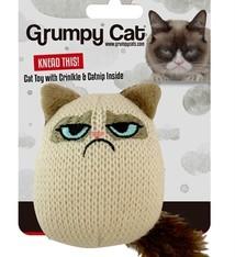 Grumpy cat Grumpy knit pouncey cat toy