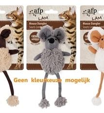 Afp Afp mouse dangler lamswol met catnip assorti