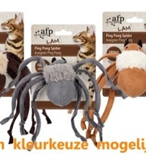 Afp Afp ping pong spider lamswol met catnip assorti