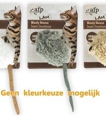 Afp Afp wooly mouse lamswol met piep en catnip assorti