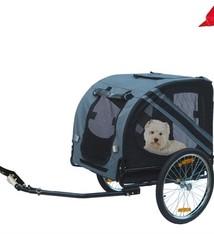 Karlie Karlie fietskar doggy liner economy grijs/zwart