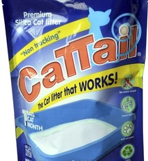 Cat-tail Cattail trackless silica kattenbakvulling