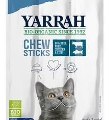 Yarrah 25x yarrah biologische kauwstaafjes kat vis met zeewier en spirulina