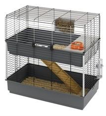 Ferplast Ferplast konijnenkooi rabbit 100 dubbel grijs