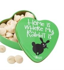 Sanal Sanal hartenblik home is where my rabbit is snoepjes