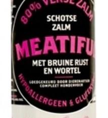 Meatiful Meatiful worst verse zalm met bruine rijst en wortel