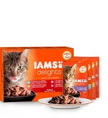 Iams 4x iams cat delights multipack land collection