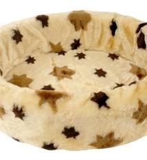 Petcomfort Petcomfort katten/hondenmand bont ster beige