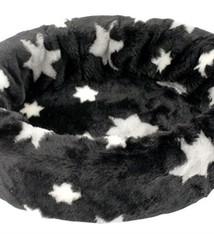 Petcomfort Petcomfort katten/hondenmand bont ster zwart