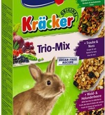Vitakraft Vitakraft dwergkonijn krackers noot/bosvruchten/groenten