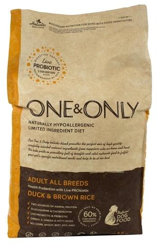 Merkloos One & only hondenvoer eend