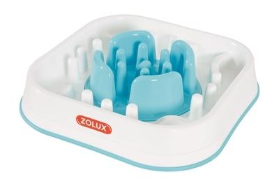 Zolux Zolux anti-schrok voerbak blauw / wit