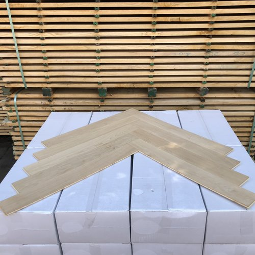 Europees eiken visgraat XL onbehandeld 11x90x700 mm