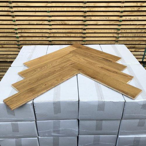 Europees eiken duoplank visgraat XL naturel hardwaxolie 12x120x600 mm