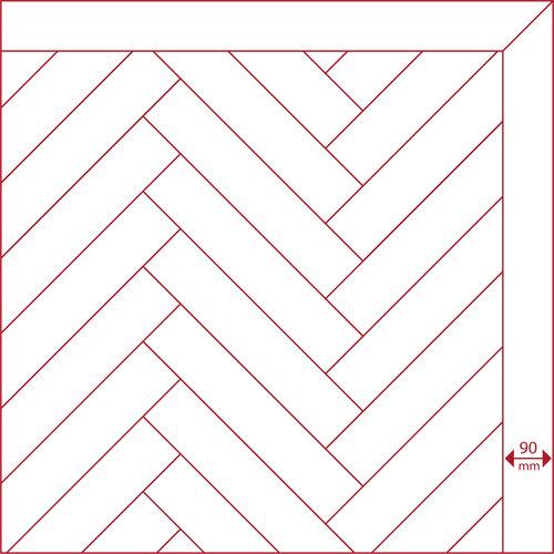 Eiken band naturel gelakt 11x90x900 mm