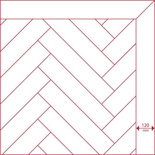 Eiken band onbehandeld premier 11x120x1000-1200 mm