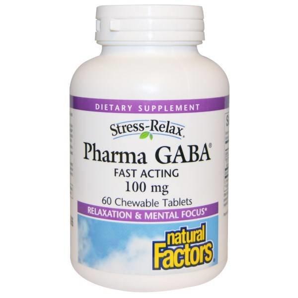 Natural Factors Schnellwirkendes GABA (100 mg)