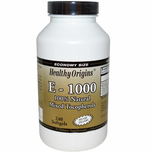 Healthy Origins Vitamin E-1000, natürlicher Tocopherol-Mix