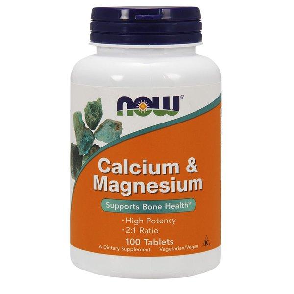 Now Foods Kalzium & Magnesium 100 Tablets : Unterstützt Knochen Gesundheit *