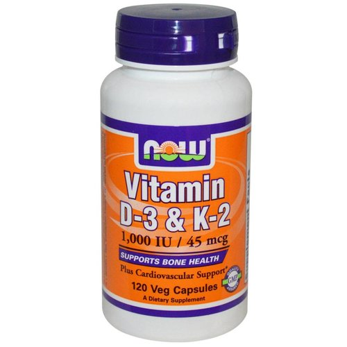 Now Vitamin D-3 & K-2 (1.000 IE / 45 mcg)