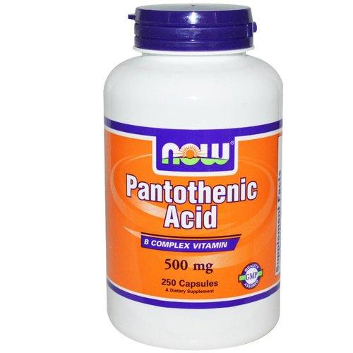 Now Pantothenic Acid, 500 mg, 250 Kapseln