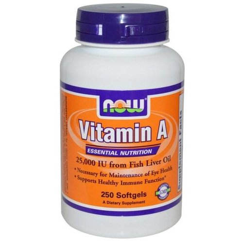Now Vitamin A 25.000 IE, 250 Softgels
