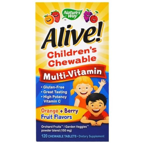 Nature's Way Alive! Multivitamin  für Kinder - Orange, Beeren