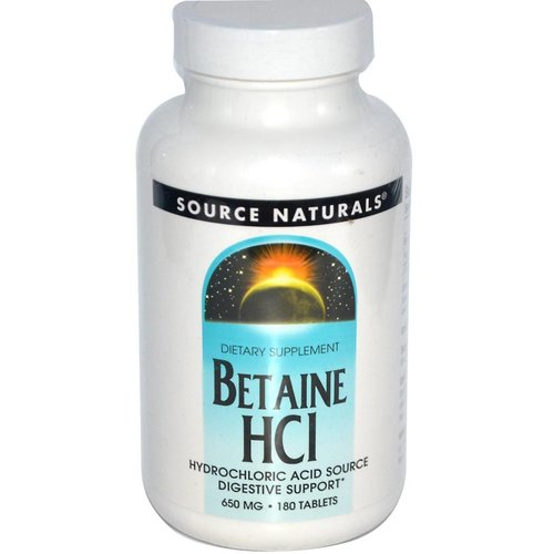 Source Naturals Betaine HCI, 650 mg, 180 Tabletten