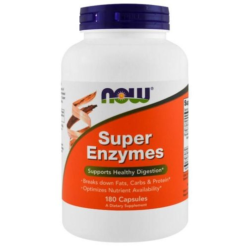 Now Super-Enzyme, 180 Kapseln: Gesund Verdauen