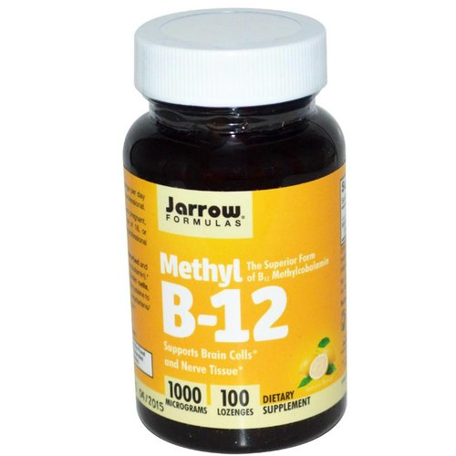 Jarrow Methyl B-12, Lemon Flavor, 1000 mcg, 100 Lutschtabletten