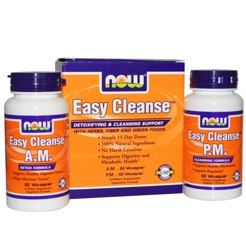 Now Foods Easy Cleanse Detox Entgiftung, 2 Flaschen, 2 X 60 Vcaps