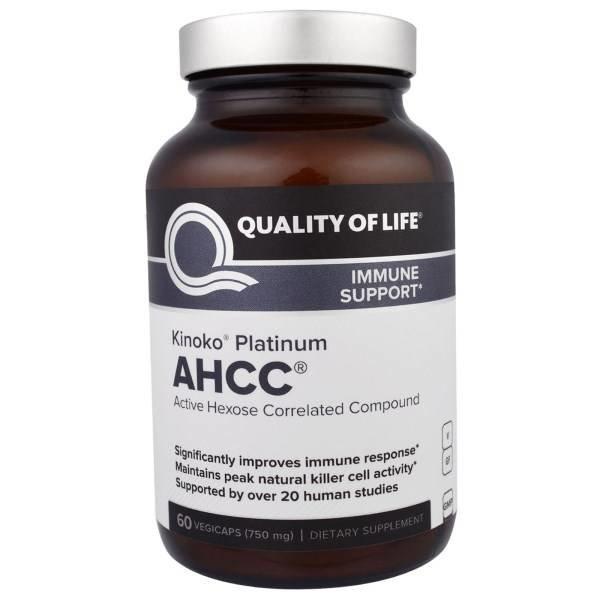 Quality of Life Labs Kinoko Platin AHCC (750 mg): Platinum