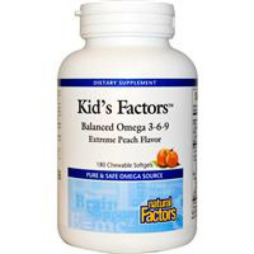 Natural Factors Kid's Factors, Balanced Omega 3-6-9